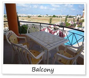 Paphos Holiday Apartment - Balcony